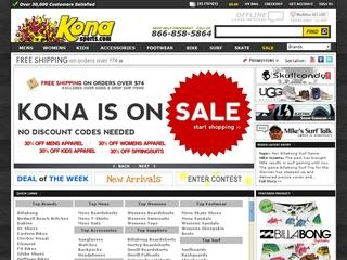 Go to konasports.com website.