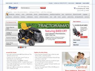This is what the sears.ca website looks like.