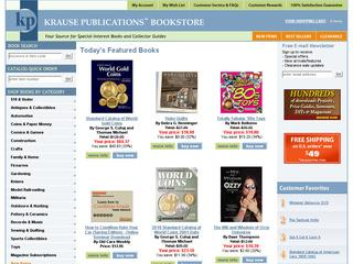 This is what the krausebooks.com website looks like.
