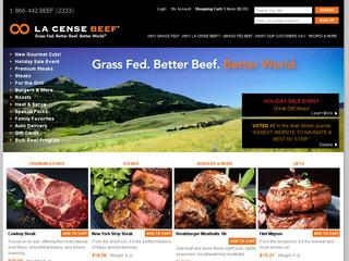 Go to lacensebeef.com website.