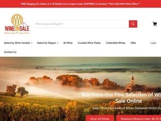 Go to Wine On Sale website.