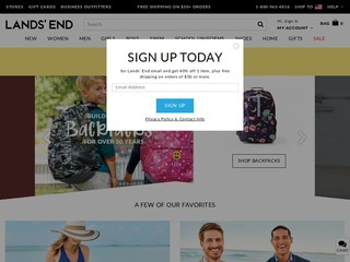 Go to landsend.com website.