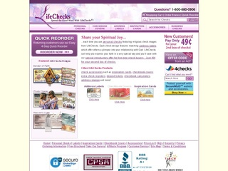 Go to lifechecks.com website.