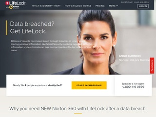 Go to lifelock.com website.