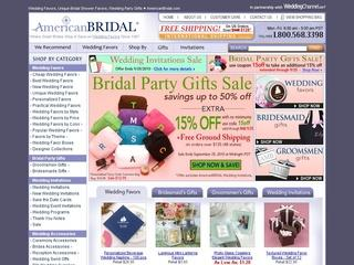Go to americanbridal.com website.