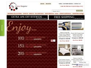 Go to linensbargains.com website.