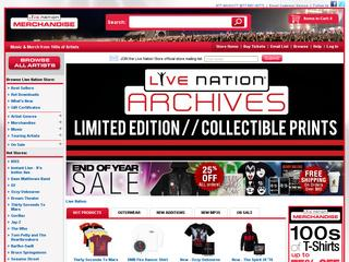 Go to store.livenation.com website.