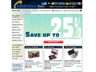 Go to livesciencestore.com website.