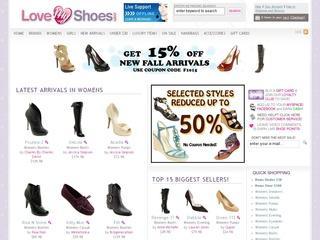 Go to lovemyshoes.com website.