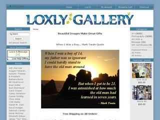 Go to loxlygallery.com website.