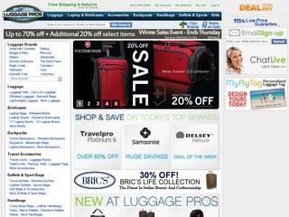 Go to luggagepros.com website.