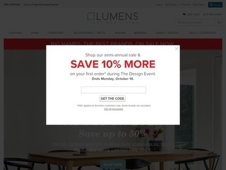 This is what the lumens.com website looks like.