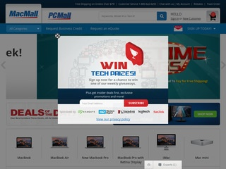 This is what the macmall.com website looks like.