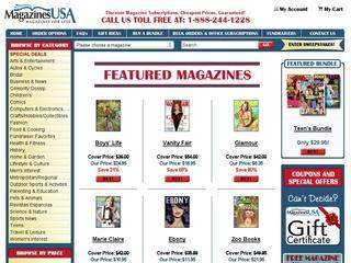 Go to magazinesusa.com website.