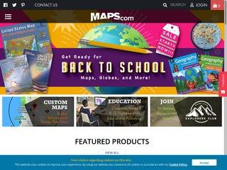 Go to maps.com website.