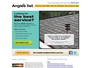 Go to angieslist.com website.