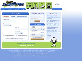 This is what the cheapair.com website looks like.
