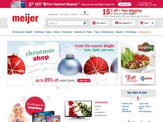 This is what the meijer.com website looks like.