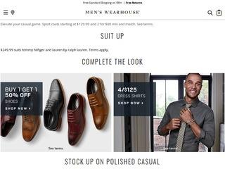 Go to menswearhouse.com website.