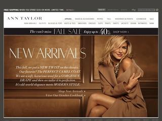 This is what the anntaylor.com website looks like.