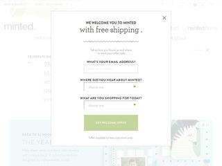 Go to minted.com website.