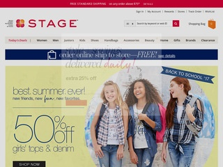 This is what the stagestores.com website looks like.