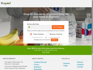 This is what the peapod.com website looks like.