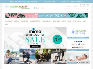 Go to modernnursery.com website.