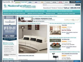 This is what the modernfurniture.com website looks like.