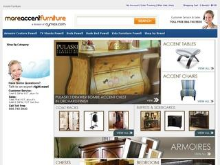 This is what the moreaccentfurniture.com website looks like.