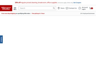 This is what the officedepot.com website looks like.