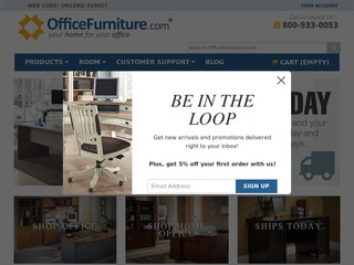 This is what the officefurniture.com website looks like.