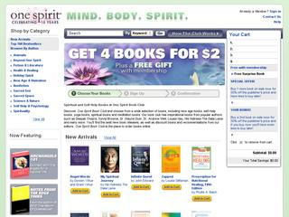 This is what the onespirit.com website looks like.