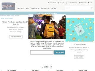 Go to jansport.com website.