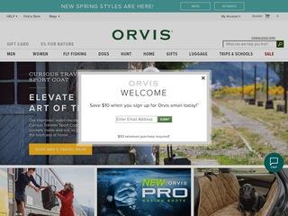 Go to orvis.com website.