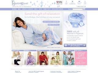 This is what the pajamagram.com website looks like.