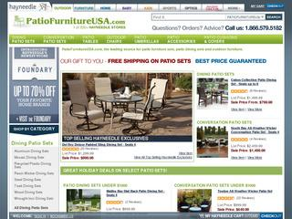 This is what the patiofurnitureusa.com website looks like.