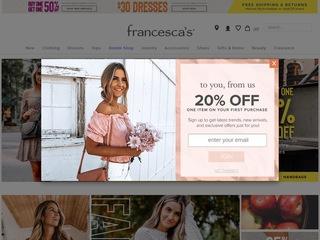 Go to francescas.com website.