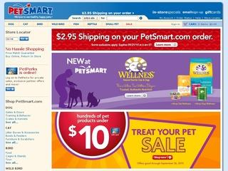 This is what the petsmart.com website looks like.