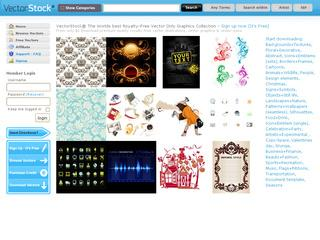 This is what the vectorstock.com website looks like.