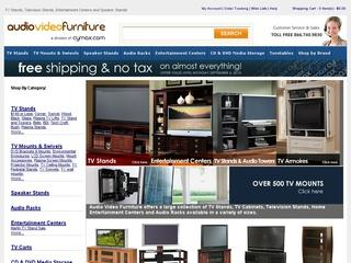 This is what the audio-video-furniture.com website looks like.