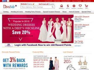 Go to dressale.com website.