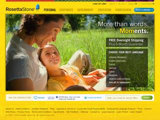 This is what the rosettastone.com website looks like.
