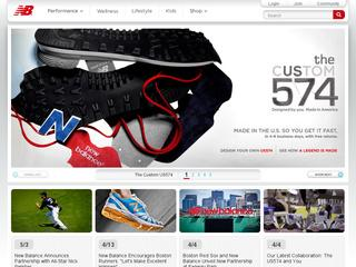 This is what the newbalance.com website looks like.