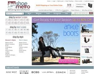 This is what the shoemetro.com website looks like.