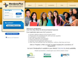 This is what the mealpayplus.com website looks like.