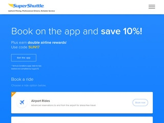 Go to SuperShuttle website.