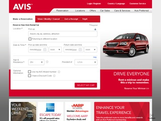 Go to avis.com website.