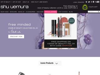 This is what the shuuemura-usa.com website looks like.