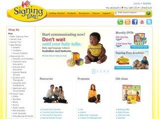 Go to signingtime.com website.